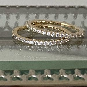 Sterling, Gold-plated, CZ Infinity Rings.